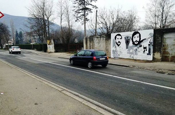 Mural u ast ivici poljaku sokolu i andriji al i u ferata for Mural u vukovarskoj ulici
