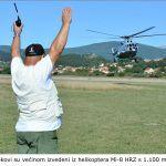 Skokovi su većinom izvedeni iz helikoptera MI HRZ s metara x
