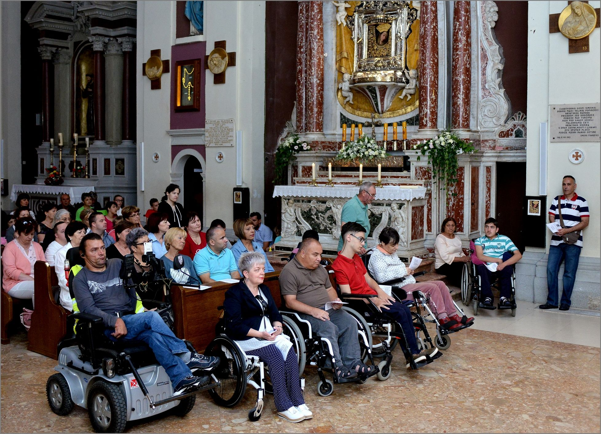 1. Hodočašće osoba sa invaliditetom Gospi Sinjskom sa područja Dalmacije.