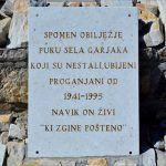 Na proplanku u selu Garjak postavljena zanimljiva spomen ploča