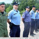 Izaslanstva su predvodili zap Specijalne jedinice policije Split Ante Vugdelija i načelnik PP Sinj Mislav Filipović Grčić x