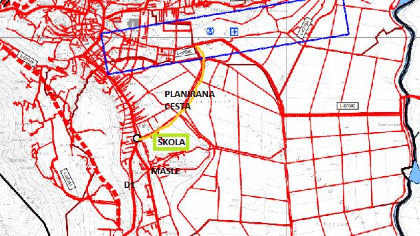 planirana cesta brnaze