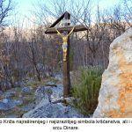 Dobro je evo Križa najraširenijeg i najizrazitijeg simbola kršćanstva ali i simbola slave U srcu Dinare x
