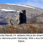 Utvrda Glavaš stoljeće bila je dio obrambenog sustava u ratovima protiv Osmanlija Strši u srcu Dinare kod Kijeva x