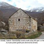 Kada su prvi Grizelji Galioti i Samardžije ovamo došli prije god iz Hercegovine svoje su kuće počeli gradit pod obroncima Dinare x