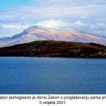 Hrvatski sabor jednoglasno je donio Zakon o proglašavanju parka prirode Dinara veljače x