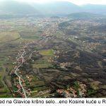 Pogled na Glavice kršno selo eno Kosine kuće u Romaca x