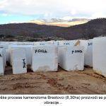 Uz tehnološke procese kamenoloma Brestovci ha proizvodi se prašina buka vibracije x