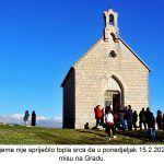 Hladno vrijeme nije spriječilo topla srca da u ponedjeljak slave svetu misu na Gradu x