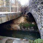 dodir ab plocastog mosta u splitskoj ulici s lukom velikog mosta na gorucici